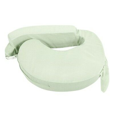 Nursing Baby Breast Feeding Support Memory Foam Pillow with Zip Cover Green