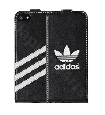 Original Adidas Drop Down Flip Case Cover Black For Apple iPhone 5s Se 5 New