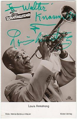 Louis Armstrong – beautiful signed photograph