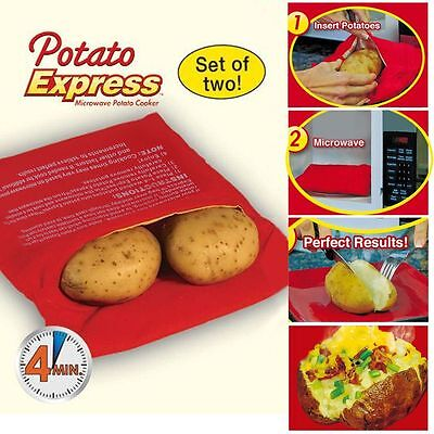 Home Potato Express Microwave 4 Minute Fast Cooker Reusable Bag