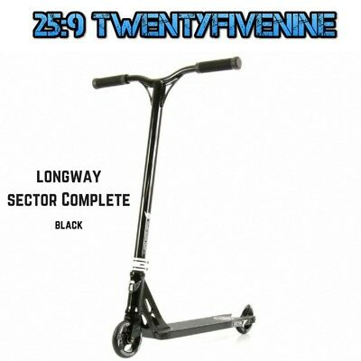 Longway Complete Sector Scooter - BLACK 3.4kg