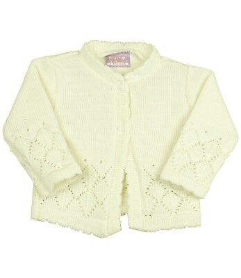BABYPREM Baby Clothes Girls Pink Cream Knitted Cardigan Sweater Cardie 0 - 18 m