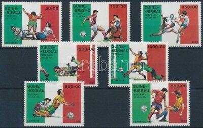 Guiné Bissau stamp Football World Cup, Italy set MNH 1989 Mi 1073-1079 WS224545