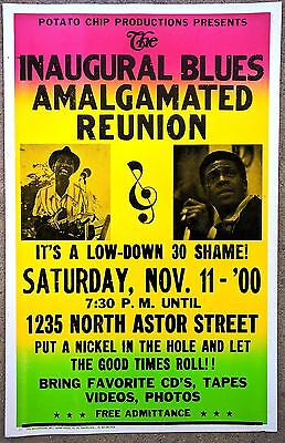BLUES POSTER: BLUES AMALGAMATED REUNION Hound Dog Taylor, Junior Wells CHICAGO