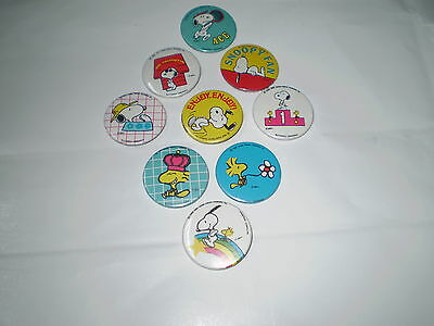 Snoopy Peanuts Pin Badge Button Vintage Rare