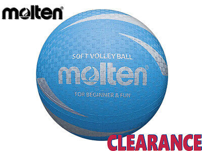 *clearance New* Molten - Soft Touch Sv2P Volleyball - Size 63-65Cm - Blue - Cb4