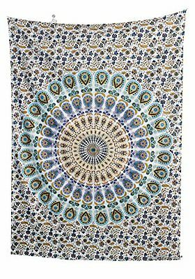 """Amitus Exports(TM) 1 X Mandala Round Peacock 75""""X53"""" Approx. Inches"""