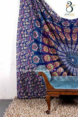 Hippie Tapestry Double Peacock Beach Sheet Indian wall Hanging Mandala