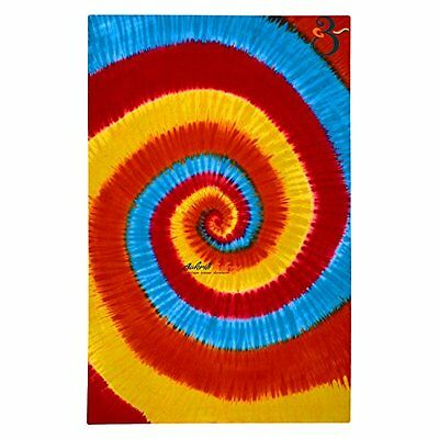 Tapestry Single Tye- Dye Spiral Wall Hanging Art Decor Mandala Hippie Dorm