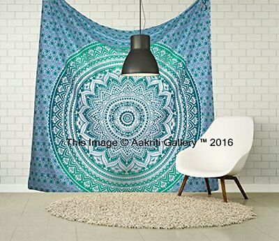 Hippie tapestries Mandala Bohemian Psychedelic Intricate Indian Bedspread