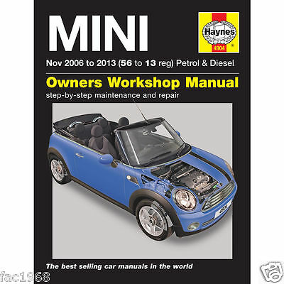Mini Nov 06 to 13 (56to13 reg)Petrol Diesel Haynes 4904 Owners Workshop Manual