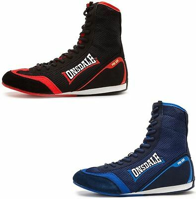 Lonsdale Mitchum Boxing Boots in Blue & Red LMA442