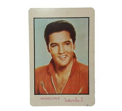 New Year Greeting Card 1966 Elvis Rare Calendar From Thailand Complete Old