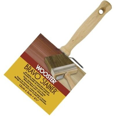 Wooster Brush F5119-4 3/4 Bravo Stainer Bristle/Polyester Stain Brush 4-3/4 Inc