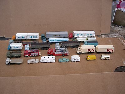 N Gauge Transport,19 X Lorries + Cars + Station People And Station Extra's