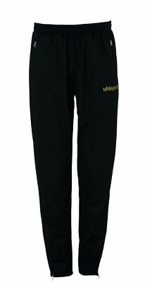 Uhlsport Womens Sports Training Pants Trousers Tracksuit Bottoms Black Gold