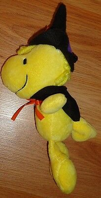 "Peanuts WOODSTOCK Halloween Witch 8"" plush clip on"