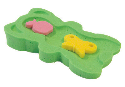 Green Baby Bath Support Foam -  Sponge MIDI + 2 sponge toys