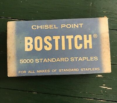 Vintage Bostitch Staples Box Made in USA