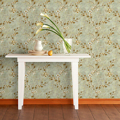 Retro Flower Non Woven Wallpaper Roll Home Decor Wall Paper TV Backgroud Bedroom