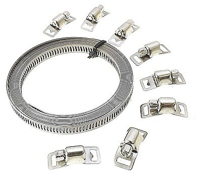 8pc Stainless Steel Hose Clamp Set Jubilee Clips  Etc New HW135