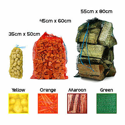 Strong Net Woven Sacks Logs Kindling Wood Log Vegetables Mesh Bags - Multipacks