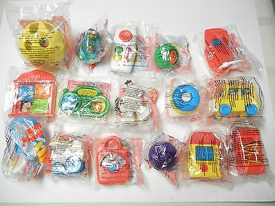 15 Mcdonalds - Fisher Price Toys  - 3 & Under - Unopened  - 1996 - All Different