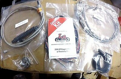 Complete Braided Stainless Handlebar Cable/wire Extension/brake Line Kit