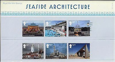 2014 Seaside Architecture Stamps with Mini Sheet of Piers Pres Pack No 502 Lido