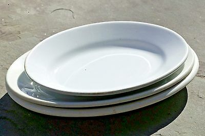 Set/3 KT&K Knowles Taylor Maddock Ironstone Oval Side Plate Dishes late 1880's