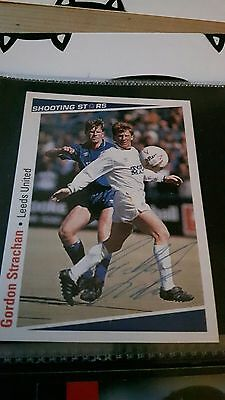 SHOOTING STARS card original signed Gordon Strachan Leeds United