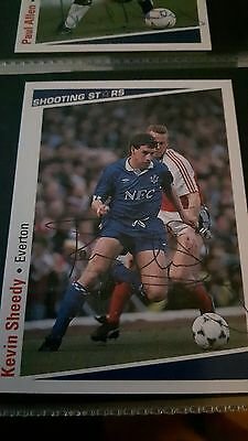 SHOOTING STARS card original signed Kevin Sheedy Everton