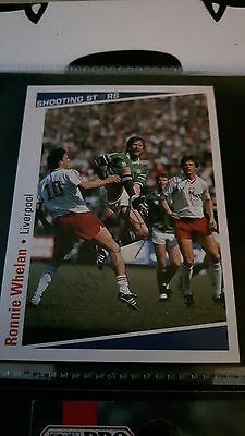SHOOTING STARS card original signed Ronnie Whelan Liverpool