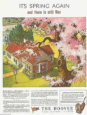 "1944 Hoover company It's spring again world war 2 art Print Ad 10.5""x13"""