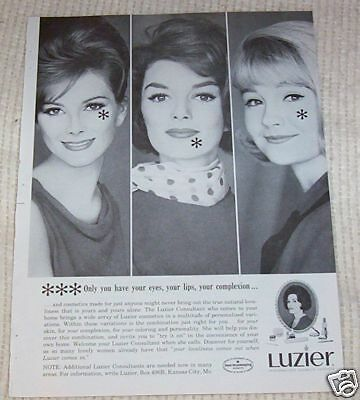 1965 ad page - LUZIER Cosmetics home consultants makeup vintage Print ADVERT