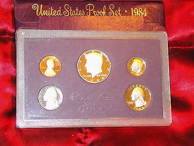 USA 1984 cased 5 coin proof set