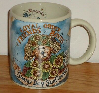 Boyds Bears Loyal Order of Friends of Boyds coffee MUG Sunny Day Sunflowers