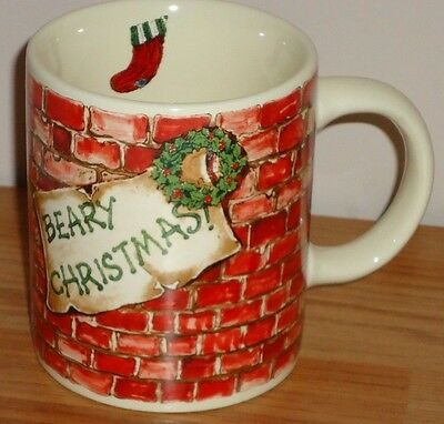 Boyds Bears BEARY CHRISTMAS ceramic coffee MUG