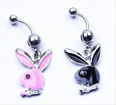 New Adult toys Bunny Crystal Rhinestone Belly Button Dangle Ring
