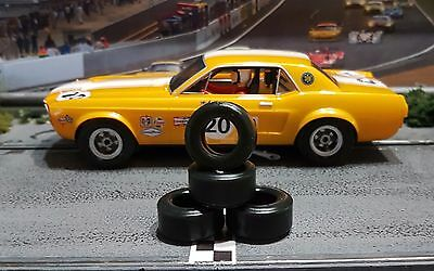 URETHANE SLOT CAR TIRES 2pr PGT-21103XD fits Pioneer Mustangs (new style hubs)
