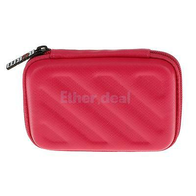 """Protective Carrying Case for 2.5"""" USB External Hard Disk Drives Gadget Red"""