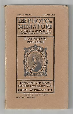 Oct.1899 The Photo Miniature - Monthly Magazine Vol I. No. 7 Platinotype Process