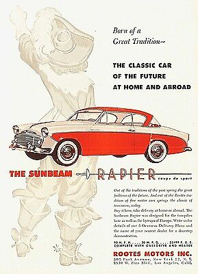 1956 Sunbeam Rapier Automobile Coupe De Sport Rootes Motors NYC Los Angeles