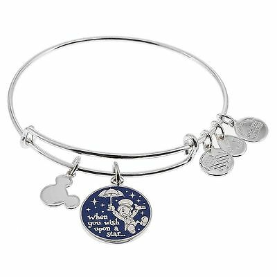 ALEX AND ANI DISNEY PARKS JIMINY CRICKET WISH UPON A STAR SILVER NEW W/Tags