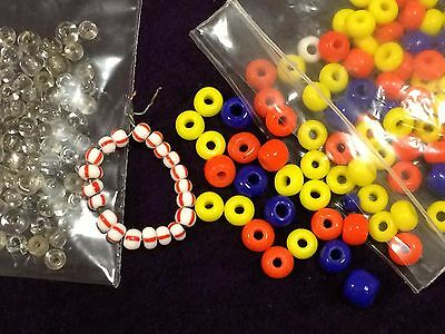 Vintage loose glass seed beads - old and varied (Ref 212)