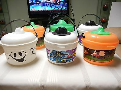 McDONALD'S HALLOWEEN PAILS - HAPPY MEAL BOXES - LOT OF 7