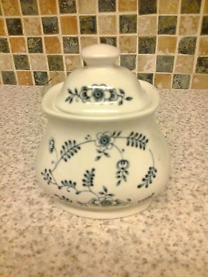 J & G Meakin Sugar Bowl With Lid Scandia Design Blue Flowers