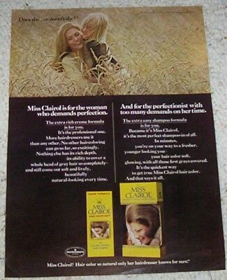 1971 vintage ad - Miss Clairol hair color Pretty blonde lady girl AD