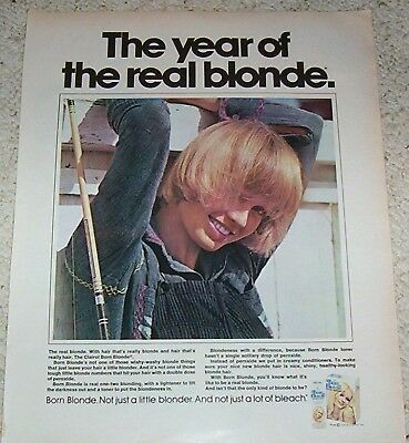 1973 ad page - Clairol Born Blonde hair color CUTE GIRL print ADVERTISING PAGE