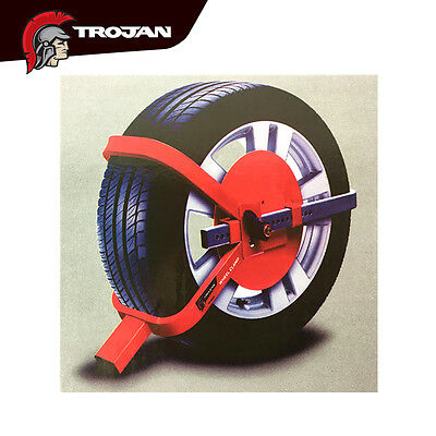 Trojan Defender Heavy Duty Wheel Clamp Safety Lock For Trailer Caravan Car